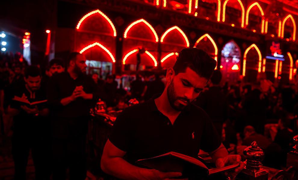(تصاویر) شام غریبان امام حسین (ع) در کربلا
