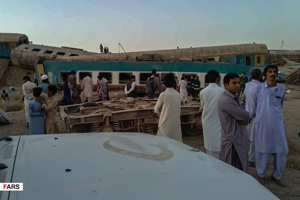 خروج مرگبار قطار از ریل در زاهدان+گزارش تصویری