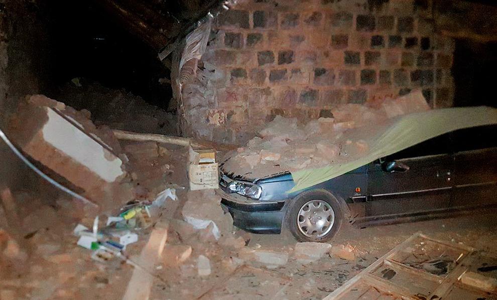 (تصاویر) نخستین تصاویر از خسارات زلزله ۵/۹ ریشتری آذربایجان