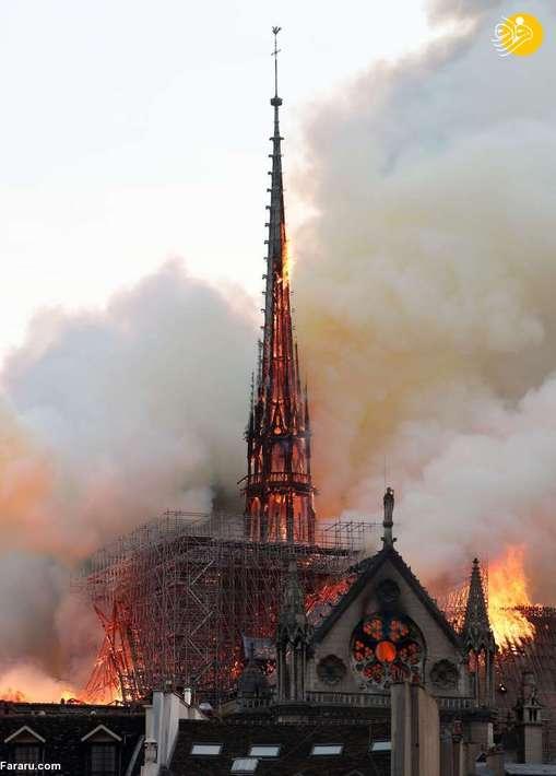 آتش سوزی کلیسای نوتردام در پاریس