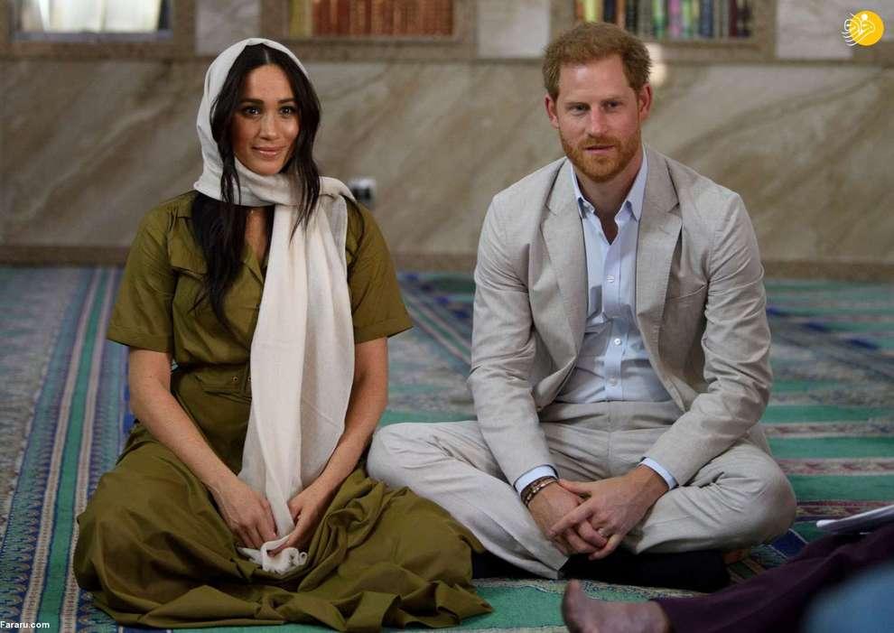پرنس هری و همسرش مگان در بازدید از اولین و قدیمی ترین مسجد آفریقای جنوبی
