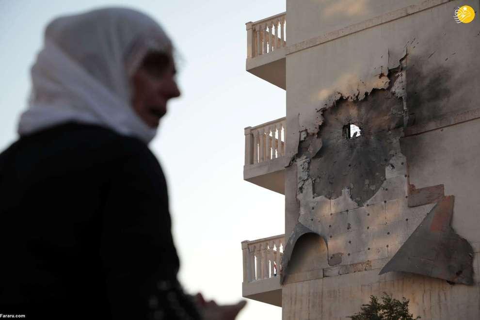 ساختمان آسیب دیده در سوریه